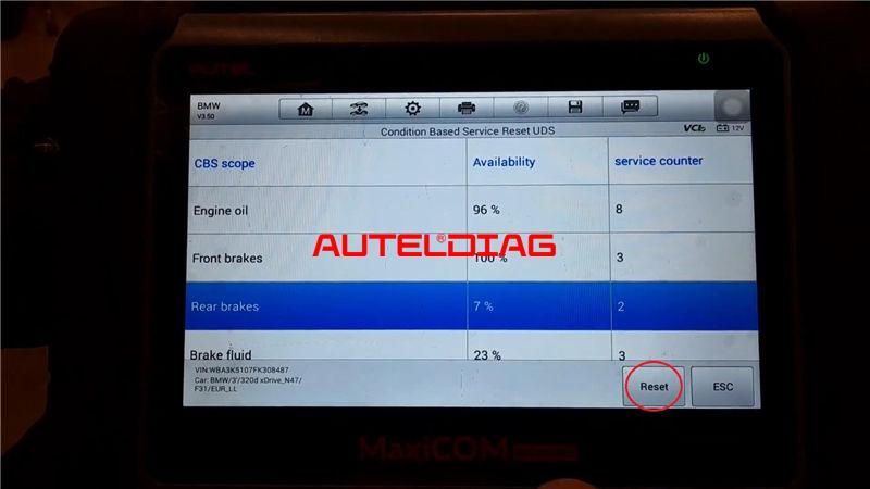 Bmw F31 2014 Brake Reset Via Autel Maxicom Mk808bt (8)