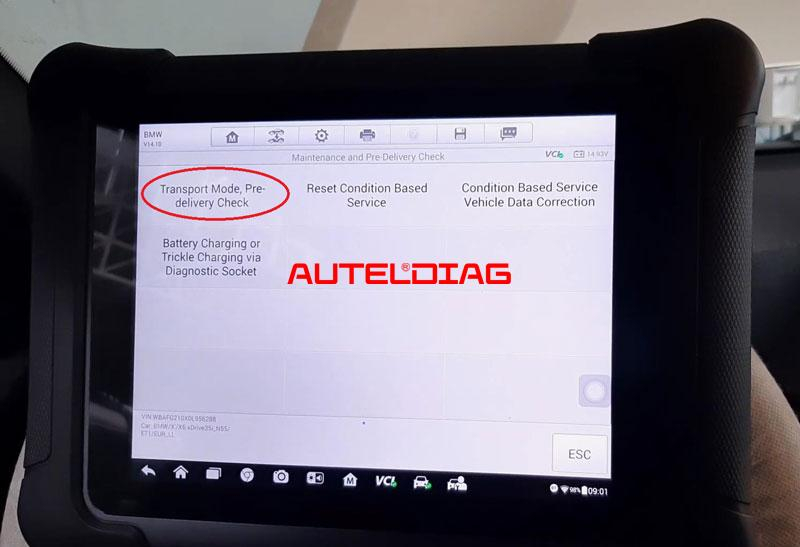 Bmw X6 E71 2012 Delete Transport Mode Via Autel Maxisys Elite (7)