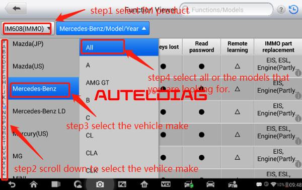 Check Immo Supported Car List In Autel Im508 Im608 (4)