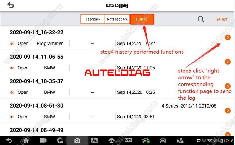 How To Send Autel Im508 Im608 Datalog From History (3)(1)