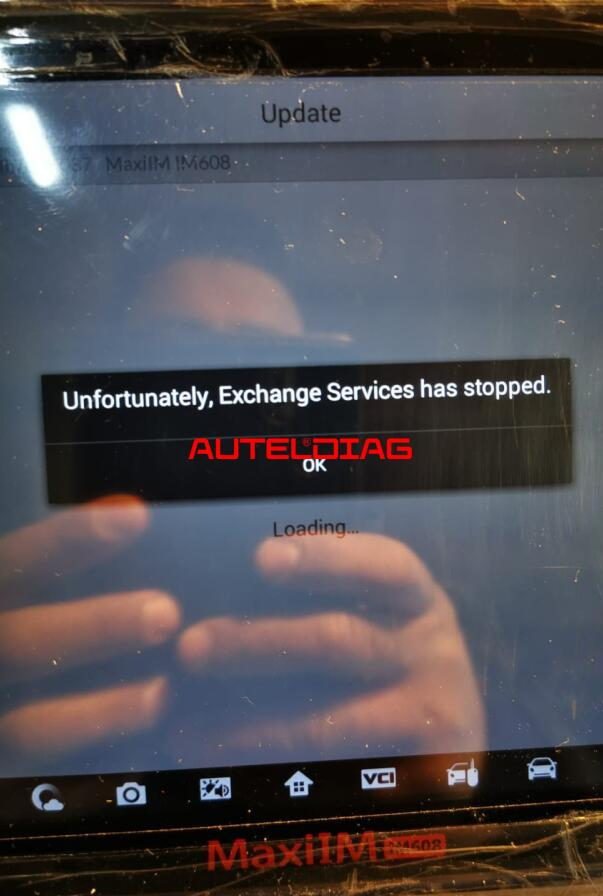 Solved Autel Im608 Exchange Services Has Stopped 1
