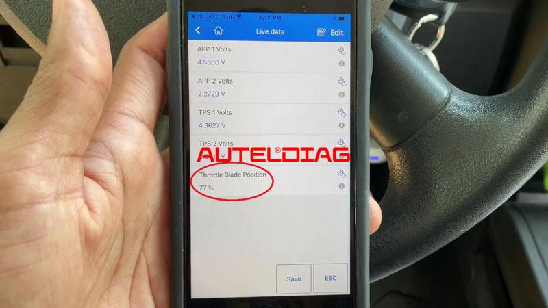 Use Autel Ap200 To Reset Throttle Position For Vehicles (13)