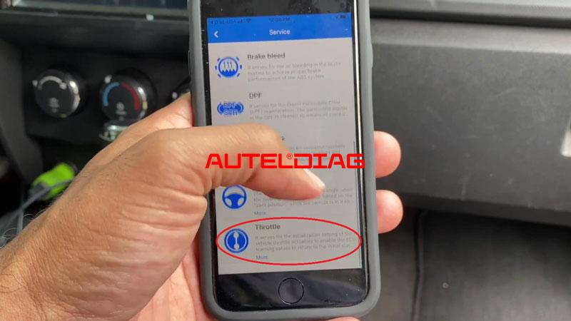 Use Autel Ap200 To Reset Throttle Position For Vehicles (3)