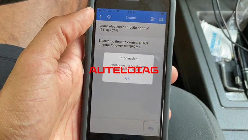Use Autel Ap200 To Reset Throttle Position For Vehicles (7)