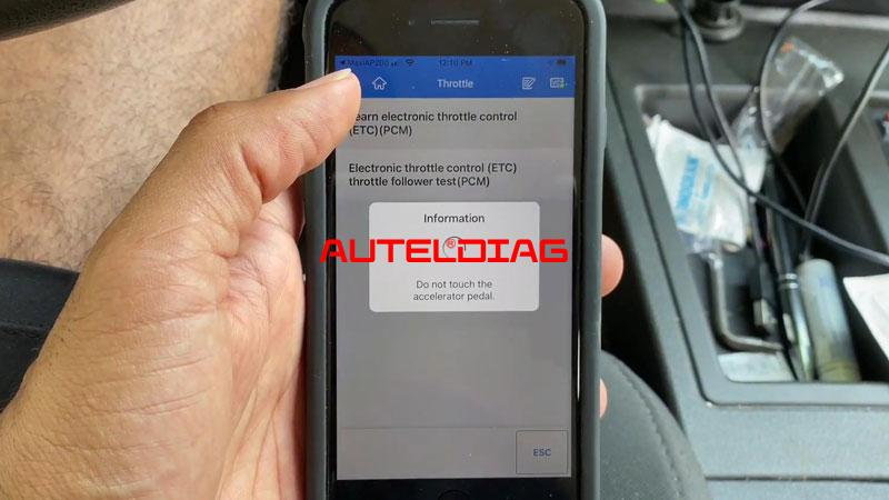 Use Autel Ap200 To Reset Throttle Position For Vehicles (8)